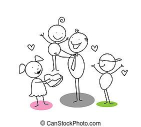 jour pères, dessin animé