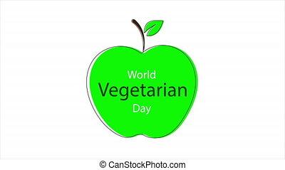 jour, végétarien, pomme, mondiale