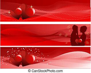 jour valentine, bannières