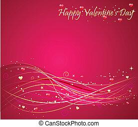 jour valentine, fond, wav