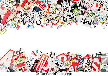 journaux, lettres, fond