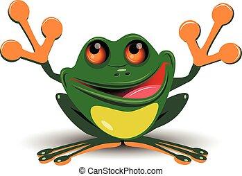 joyeux, grenouille