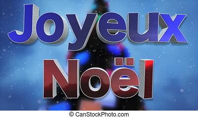 joyeux, langue, noël, fond, francais, boucle
