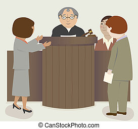 juge, avocats, salle audience