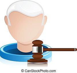 juge, justice, personne agee, marteau