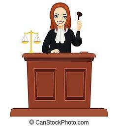 juge, marteau, caractère