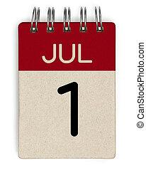 juillet, calendrier