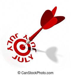 juillet, cible