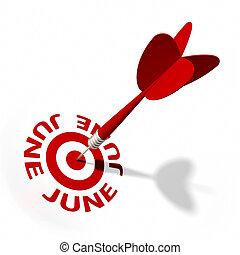 juin, cible