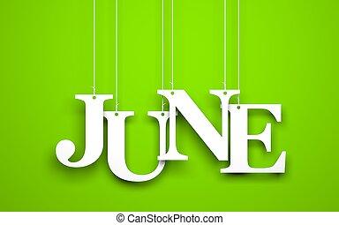 juin, cordes, mot, pendre