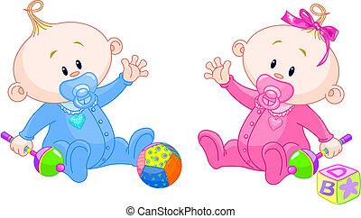 jumeaux, doux