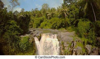 jungle, bali, océan, chute eau, indien, 4, île