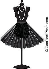 jupe noire, mannequin