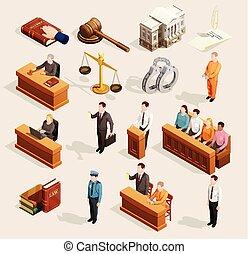 jury, éléments, tribunal, collection