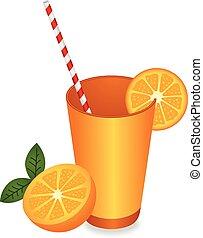 jus orange, été, rafraîchissement