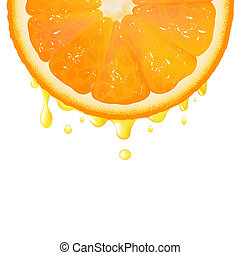 jus orange, segment
