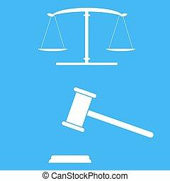 justice, balances, gavel.
