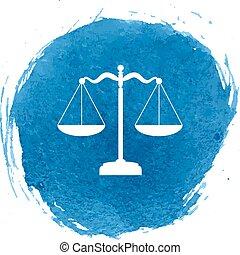 justice, balances, icône