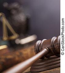 justice, concept, marteau, maillet