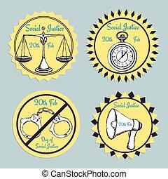justice, croquis, jour, social