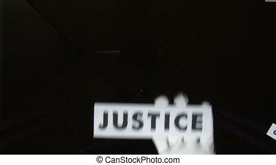justice, défaillance, temps, -, mots, termes