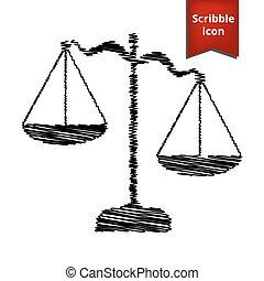 justice, stylo, effet, balances