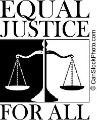 justice, tout, égal