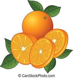 juteux, oranges