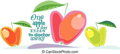 juteux, pomme rouge