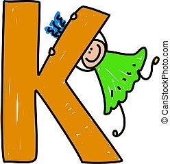 k, girl, lettre