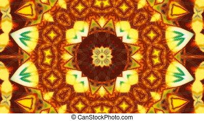 kaléidoscope, peinture, symétrique, brosse, encre, résumé