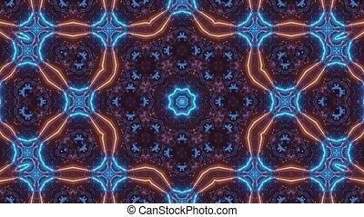 kaléidoscopique, animé, uhd, multicolore, néon, espace, 3d, rendre, boucle, vj, 4k