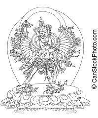 kalachakra, divinité, bouddhiste