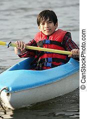 kayaking, lac