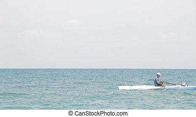 kayaking, mer
