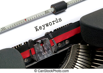 keywords, machine écrire