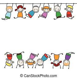 kiids, jouer, heureux