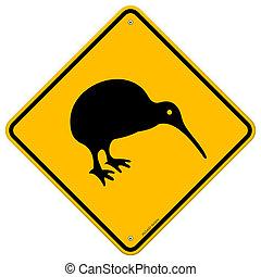 kiwi, signe jaune