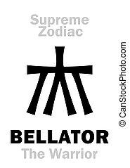 knight), hercule, suprême, astrology:, bellator, (the, guerrier, zodiac:, /, =