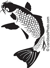 koi pêchent, japonaise