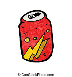 kola, dessin animé, boîte