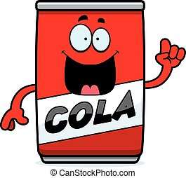 kola, idée, boîte, dessin animé