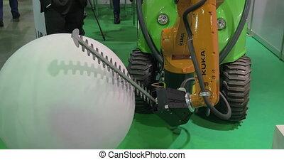 kuka, industriel, robotix, robot, expo, exposition, vu