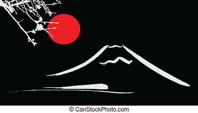 kyoto, montez fuji, soleil, fleurs, osaka, rouges, vue