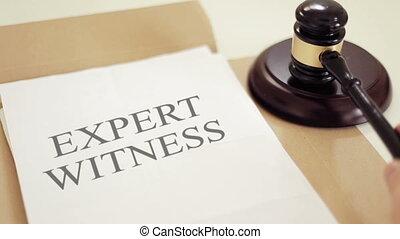 légal, témoin, écrit, marteau, expert, documents