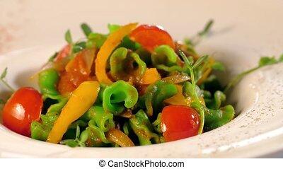 légume, frais, salade, tomates
