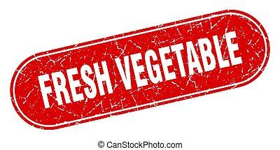 légume, grunge, étiquette, frais, signe., rouges, stamp.