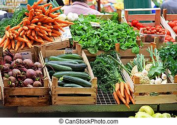légume, marché