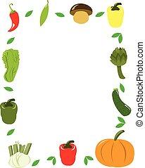légumes, cadre