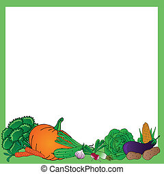 légumes, divers, cadre